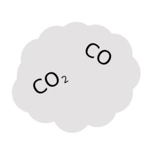 Heizpilz im Innenraum gase