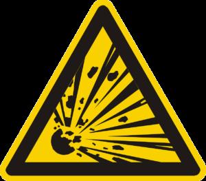 Lagerung von Gasflaschen Explosion